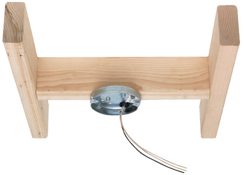 ... Pan's design provides secure attachment to an existing ceiling joist