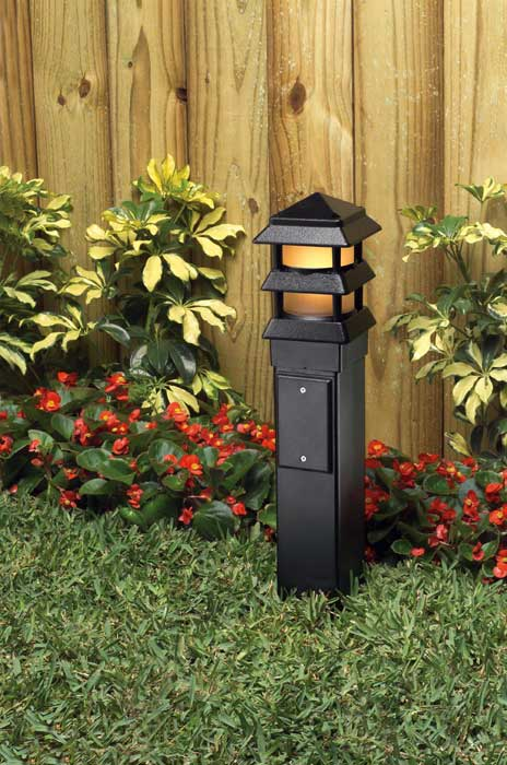 Outdoor Landscape Lighting Garden Post : Industries gp b gard n post outdoor landscape lighting garden
