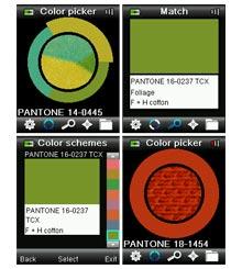 Pantone CAPSURE display