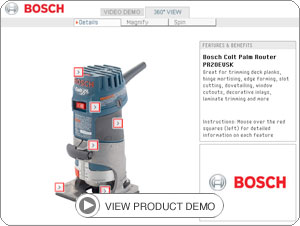 bosch B000ANQHTA demo Bosch PR20EVSK Colt Palm Grip 5.6 Amp 1 Horsepower Fixed Base Variable Speed Router with Edge Guide