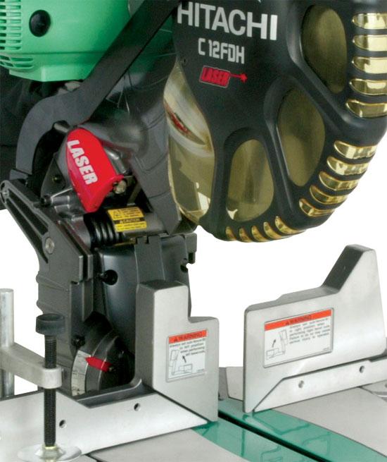 Hitachi C12FDH 15 Amp 12-Inch Dual Bevel Miter Saw with Laser