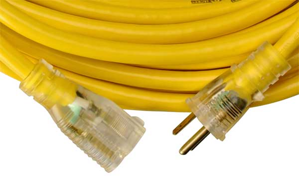 Extension Cord With Lighted End