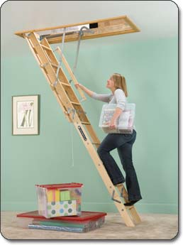 Louisville Ladder Premium Wooden Attic Ladders