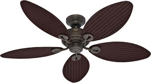 hunter 23979 bayview 54 inch five blades ceiling fan white wicker