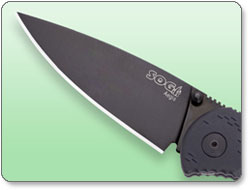 SOG AE-02 Aegis Folding Knife with Black TiNi Finish