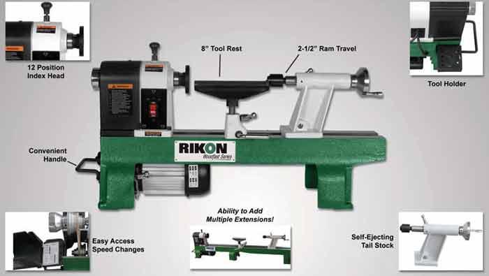 Amazon Com Rikon 70 100 12 By 16 Inch Mini Lathe Home