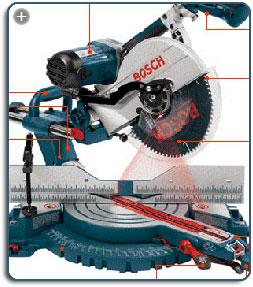 Bosch 5412l 12 Inch Dual Bevel Slide Miter Saw With Laser