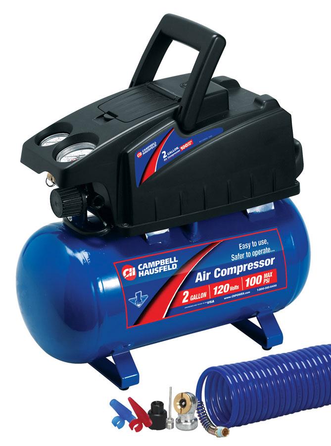 Campbell Hausfeld FP2048 2-Gallon Air Compressor and 8-Piece Accessory