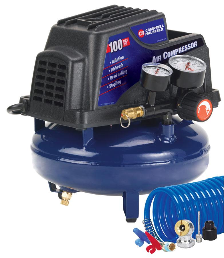 campbell 1 gallon pancake air compressor kit tire auto