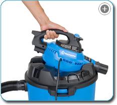 Vacmaster VBV1210 Detachable Blower Wet/Dry Vacuum, 12