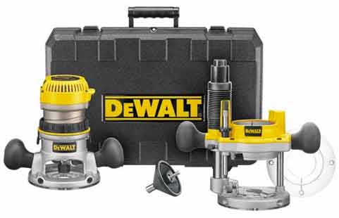 DEWALT 2-1/4-Inch Fixed-Base/Plunge-Base Router Combo Kit
