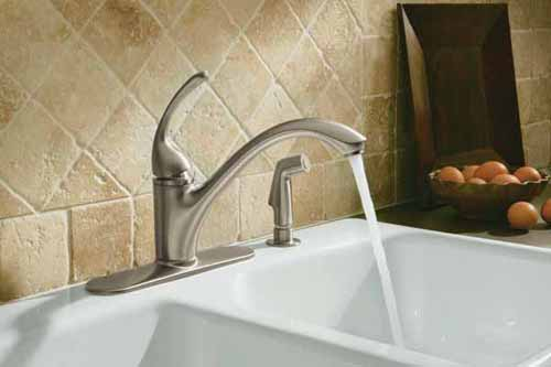 Kohler Forte Faucet : KOHLER K-10412-CP Forte Single Control Kitchen Sink Faucet, Polished ...