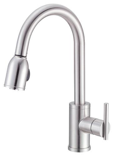 danze d457058ss parma single handle kitchen faucet with