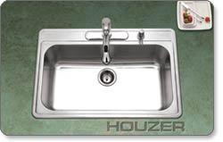 Houzer PGS-3122 Premiere Gourmet Topmount Sink