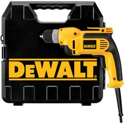 DEWALT (DWD110K) 3/8-Inch VSR Pistol-Grip Drill Kit with Keyless Chuck