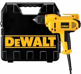 DEWALT (DWD115K) 3/8-Inch VSR Mid-Handle Drill Kit with Keyless Chuck