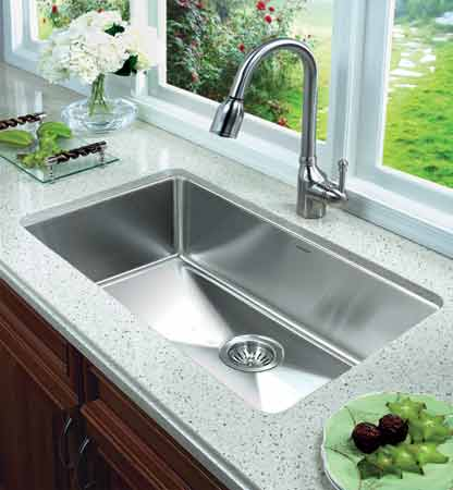 Oversized Sinks Kitchen : ... 25mm Radius Undermount Stainless Steel Large Single Bowl Kitchen Sink