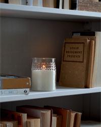 Energizer LED Realistic-Flame Glass-Jar Candle