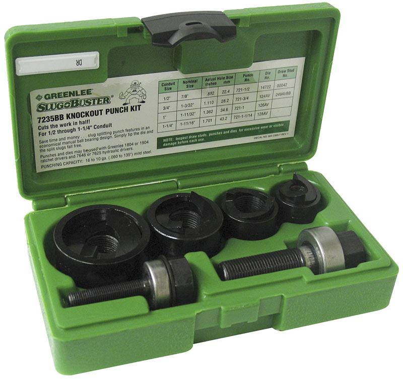 Greenlee 7235BB Slug-Buster Manual Knockout Kit for 1/2 to