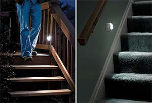 Battery stair lights