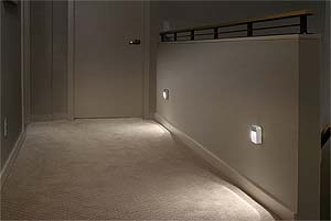 Wall Mounted Night Lights : Amazon.com: Mr. Beams MB723 Battery-Powered Motion-Sensing LED Stick-Anywhere Nightlight, 3-Pack ...