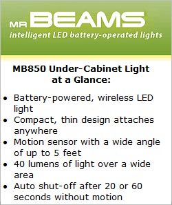 Mr Beams MB 850 Under-Cabinet Light at a Glance