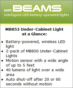 Mr Beams MB 852 Under-Cabinet Light at a Glance