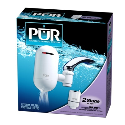 Pur 2-Stage Vertical White Faucet Mount Water Filteration System (FM-3333)