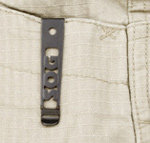 Reversible pocket clip