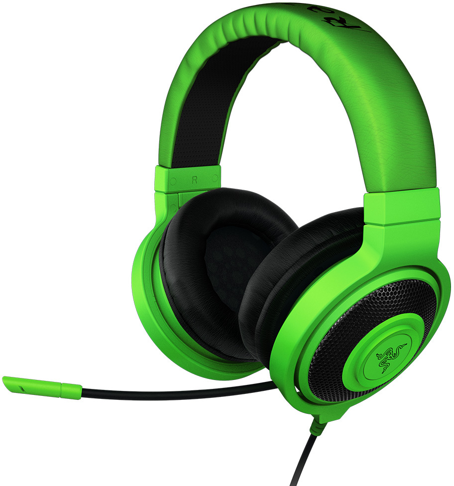 razer kraken pro over ear pc and music headset green. Black Bedroom Furniture Sets. Home Design Ideas