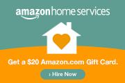 Amazon Home Services: Get a $20 Amazon.com Gift Card