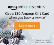 Amazon Home Services: Get a $30 Gift Card when you book a service