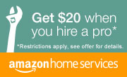 Amazon Home Services: Get a $20 Gift Card when you book your first service
