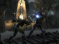 Battling an enemy in close quarters in Two Worlds II