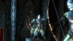 Bowmen taking aim in unison in Two Worlds II