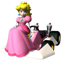 Princess Peach on here kart in 'Mario Kart DS'