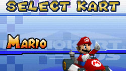 Selecting your kart in 'Mario Kart DS'