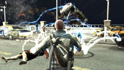 Cole wielding his electricity-based power in ''inFAMOUS''