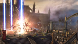 A devastating orbital strike in &#39Warhammer 40,000: Dawn of War II&#39