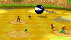 View of the field in 'Mario Super Sluggers'