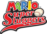 'Mario Super Sluggers' game logo