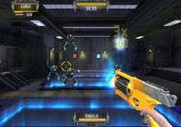 Battling droids in 'NERF N-Strike'