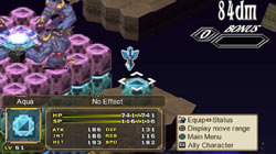 Enjoy 3-D play across Disgaea 3's geo blocks