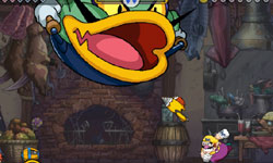 Boss battle in 'Wario Land: Shake It!'