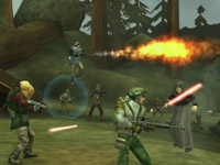 16-person multiplayer support in Star Wars Battlefront: Elite Squadron for PSP