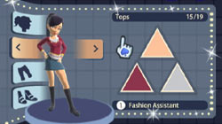 Character customization via fashion assistant in 'Boogie SuperStar'