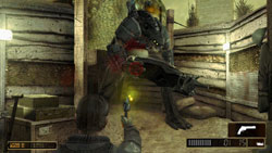 Grayson using a pistol in 'Resistance: Retribution'