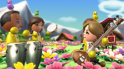 Sitar and congas in Wii Music