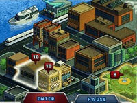 Third-person view of cityscape gameplay area with puzzle available from Mystery P.I. Portrait of a Thief