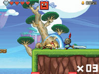 Platforming action in 'Henry Hatsworth in the Puzzling Adventure'